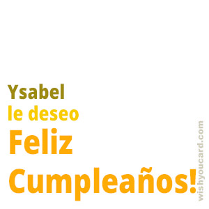 happy birthday Ysabel simple card